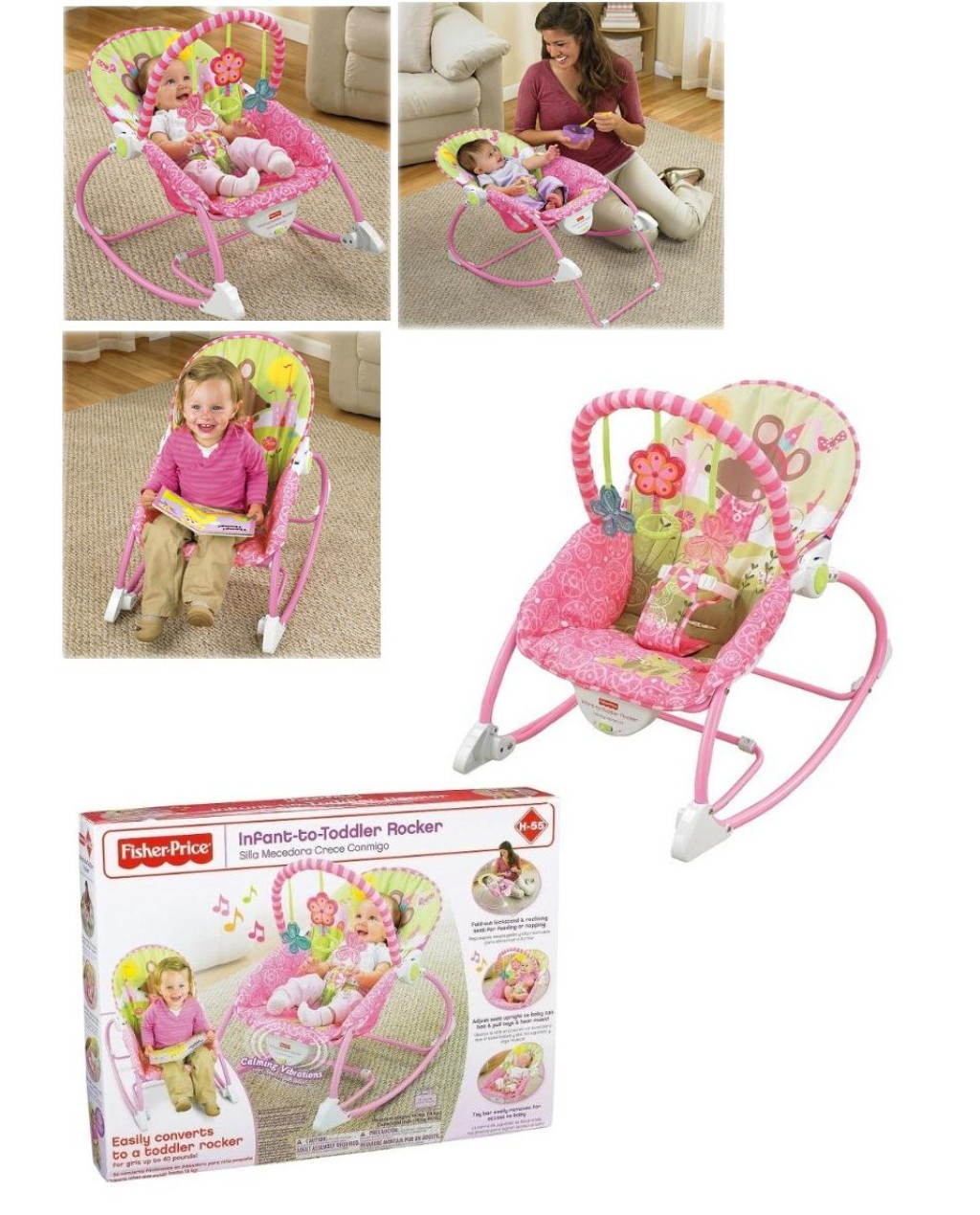 Infant To Toddler Rocker I Baby Fisher Price Pink